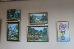 Открытие юбилейной персональной выставки живописи «Воспоминания о лете...» Новиковой Ирины (г. Унеча)