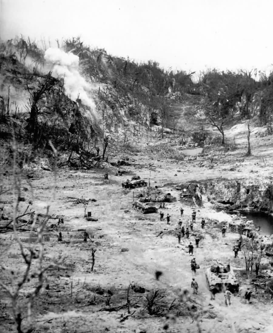 Japanese_In_Caves_Shelled_By_US_Tanks_Peleliu_Island_Palau_Group_October_1944.jpg