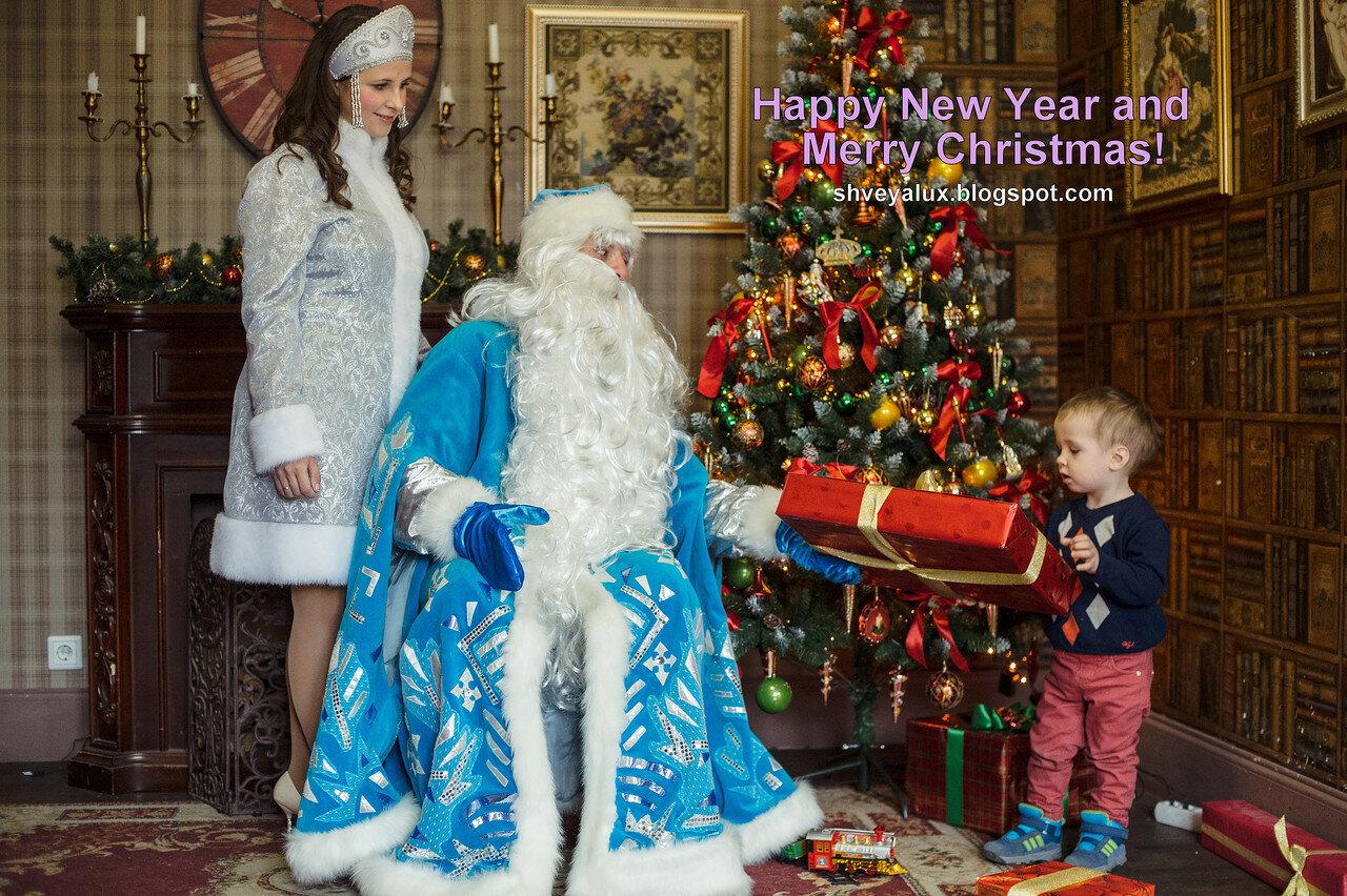 Дед мороз дарит подарок ребенок 52
