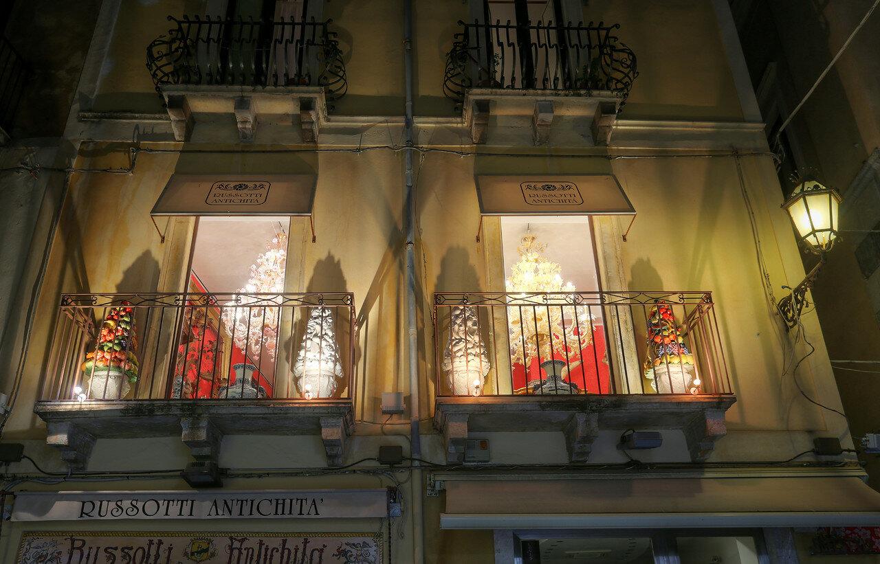 Taormina. Antique shop Russotti Antichita