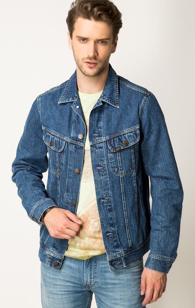 Мужские джинсовые куртки: стильные образы на каждый день (1 фото)