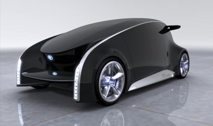 Этот автомобиль называют машиной ХХІІ века. Кузов Toyota fun-vii покрыта специальным материалом, кот