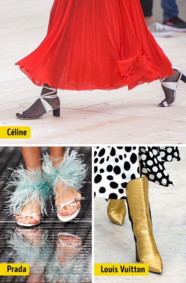 © Rex Shutterstock  © Reuters  Цвет обуви, форма носа, форма каблука. Обувь цвета металл