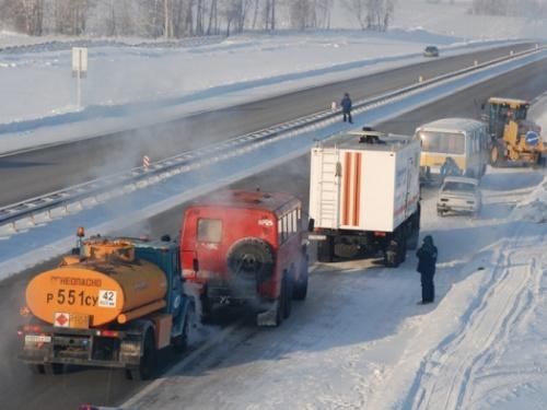 Нафедеральных трассах Ростовской области дежурят cотрудники экстренных служб
