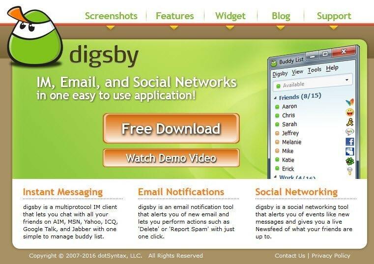 Сообщения мессенджера Digsby можно встраивать даже в социальные сети!