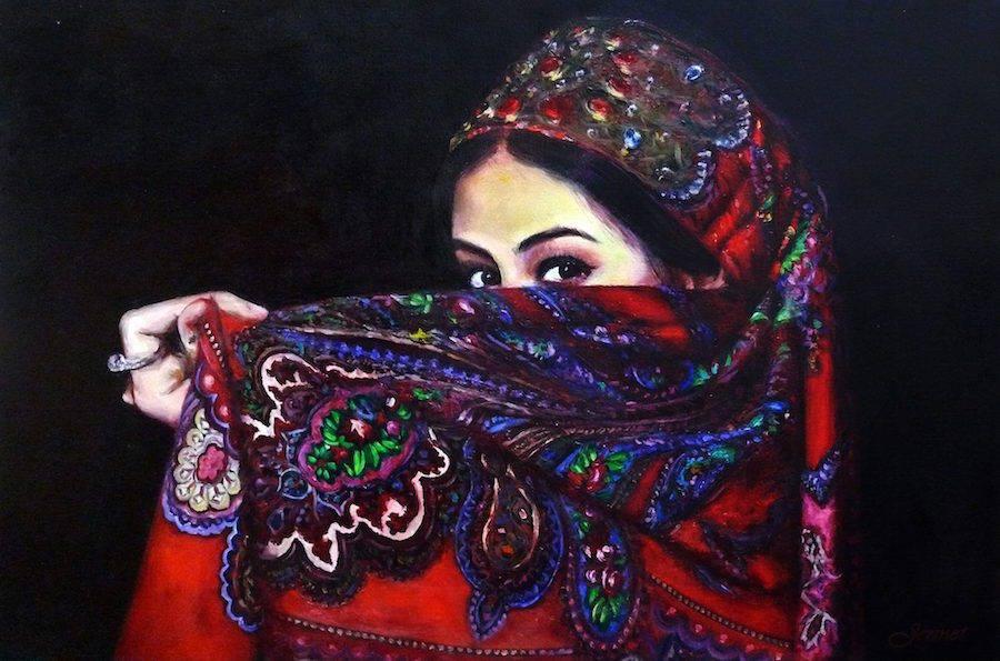 Gorgeous Paintings of Turkoman Women
