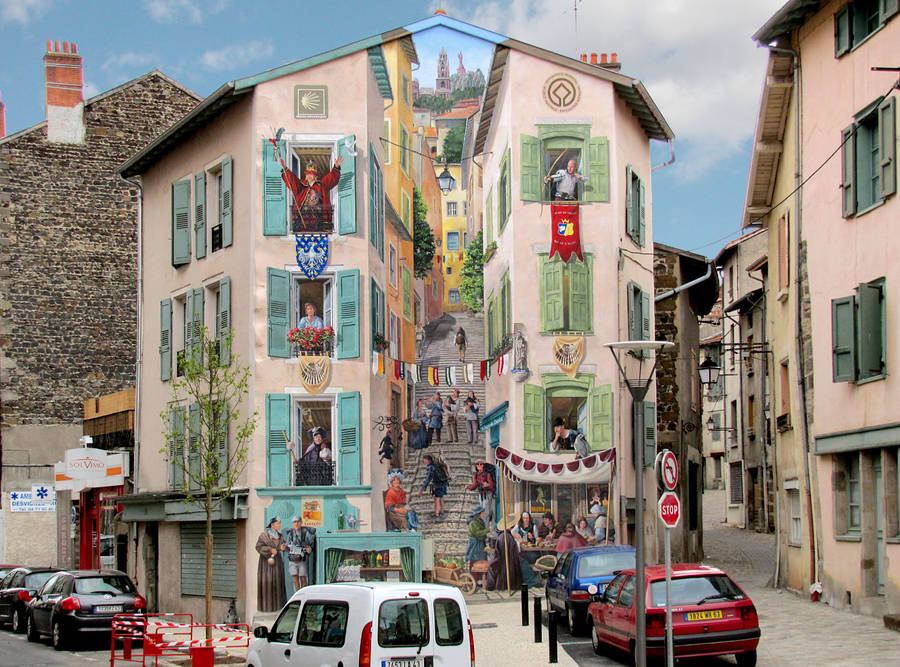 Turning Building Facades into Beautiful Trompe-L'Oeil