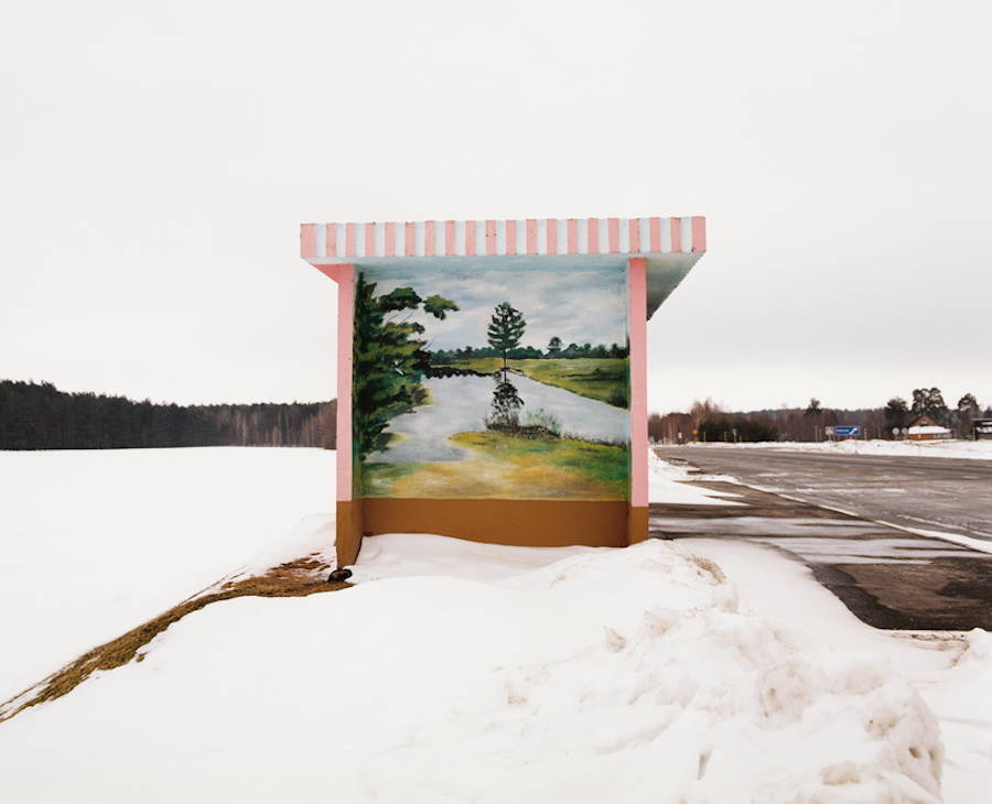 Colorful Bus Stops in Belarus
