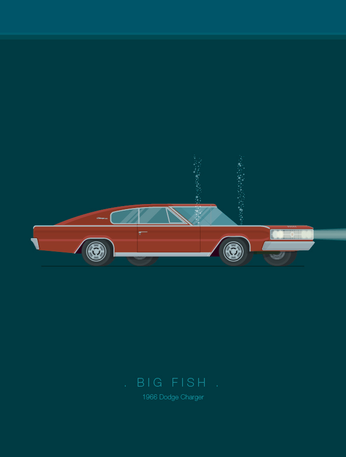 Carros famosos do cinema e TV por Fred Birchal