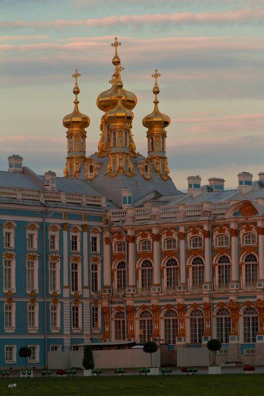 Церковный флигель Екатерининского дворца