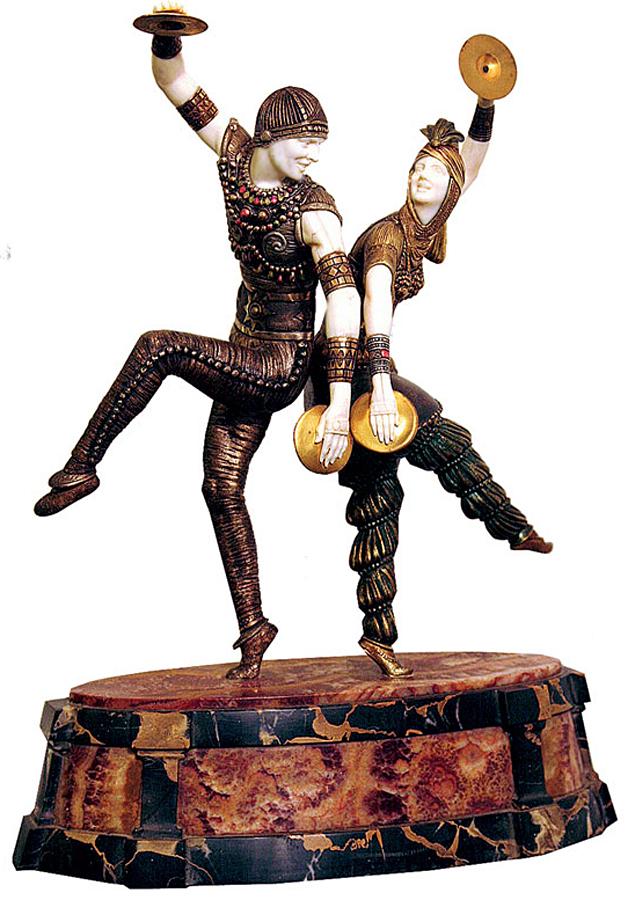 """Статуэтка """"Русские танцовщики"""".  1930-е,  Чипарус Дмитрий (1886-1947)"""
