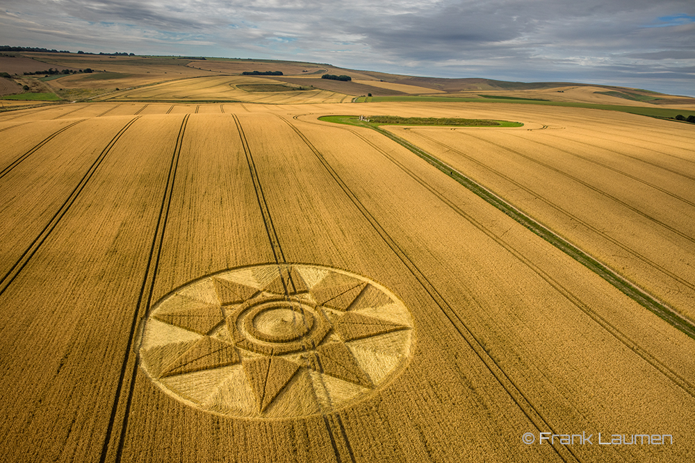 Wiltshire, UK. Reported on the 28th of July, 2016. Stunning aerial photo by Frank Laumen