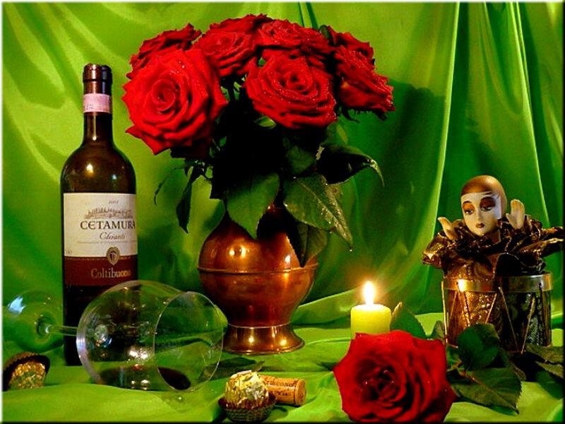 Розы и коньяк открытки, жить могу