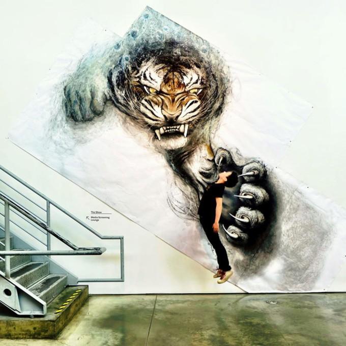 Фиона Тан: Фрески с животными, которые готовы прыгнуть со стены