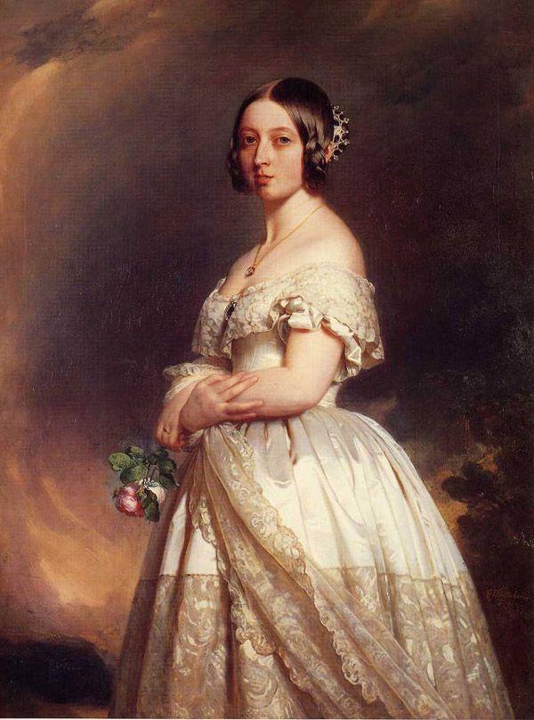 1. Королева Виктория в подвенечном платье, 1840 г. В разные эпохи и в разных странах цвет свадебного