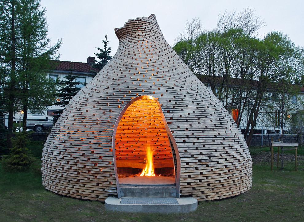 6. Культурный центр Жан-Мари Тжибау — интересное деревянное архитектурное воплощение соединения