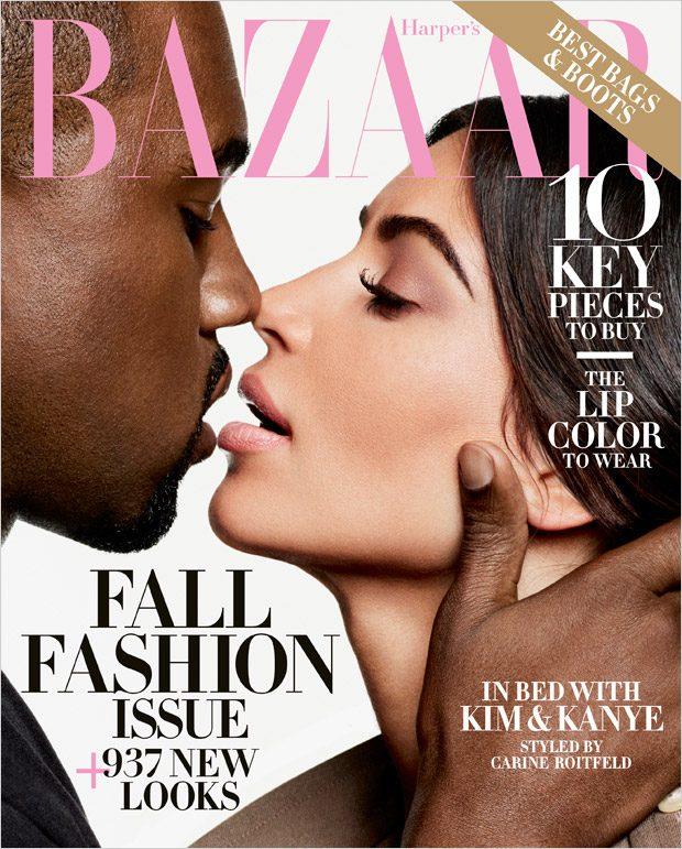 Ким Кардашьян и Канье Уэст в Harper's Bazaar (12 фото)