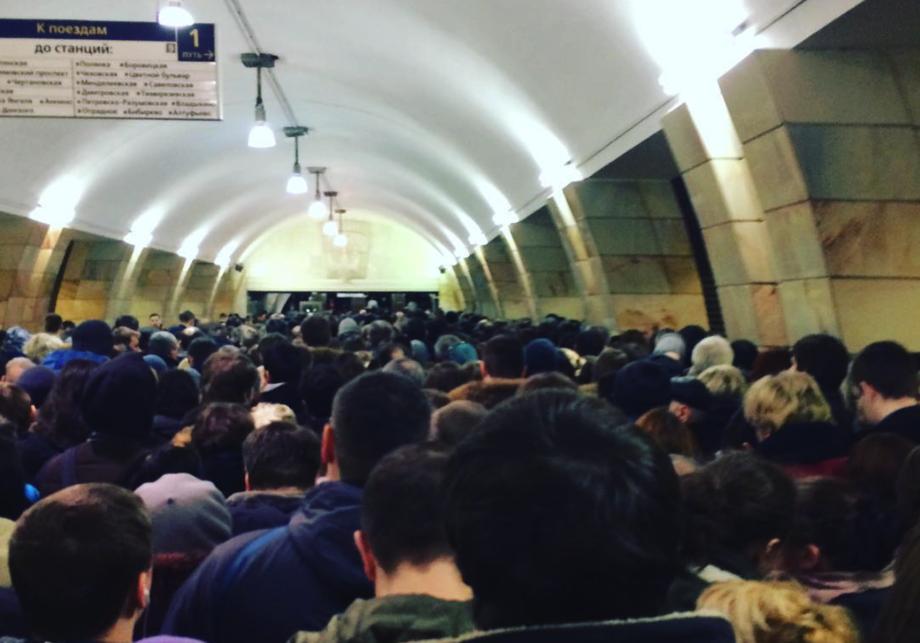 Женщине сломали ногу впроцессе давки вмосковском метро