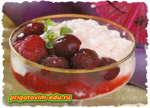 Крем ягодно-молочный в СВЧ - печи