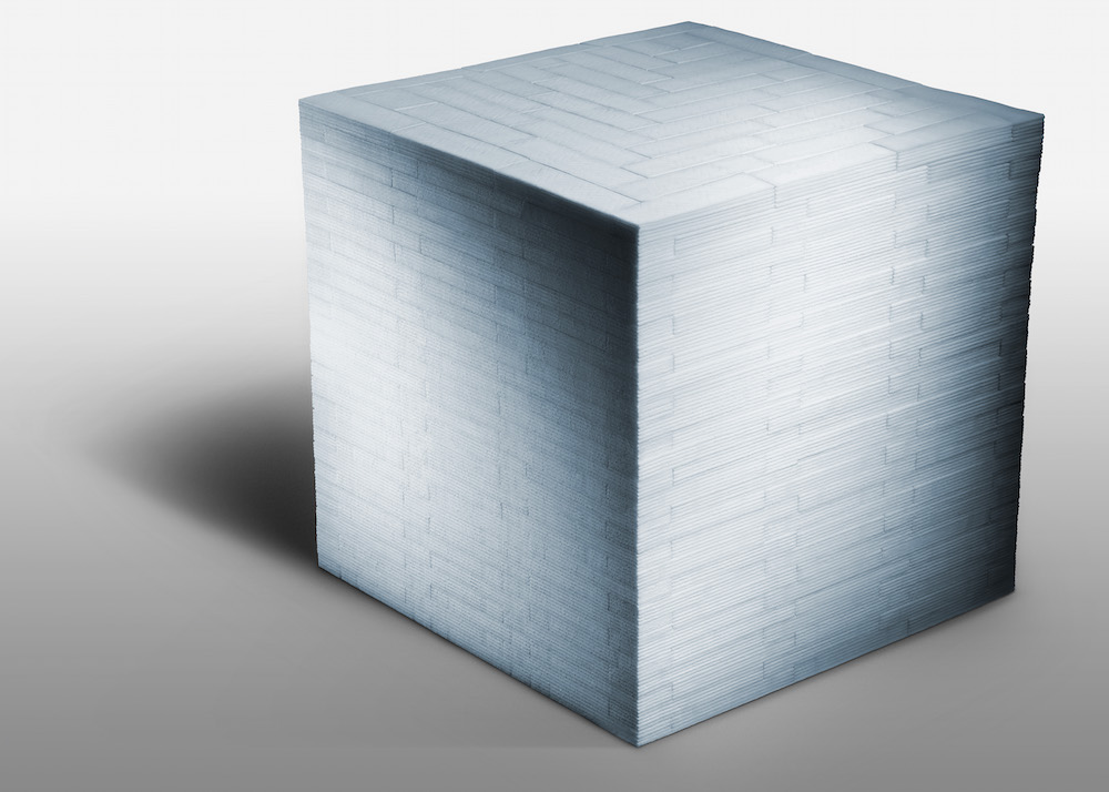 Futurist Architecture Formed From Neatly Stacked Chewing Gum by Sam Kaplan