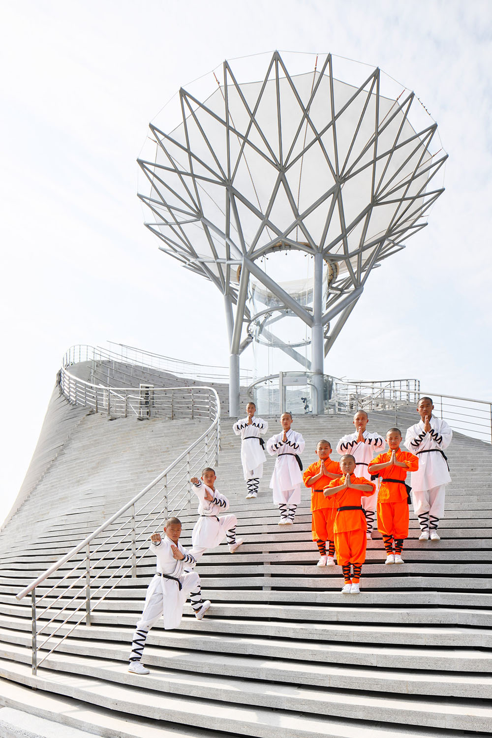 The Shaolin Flying Monks Temple Blasts Monks Into the Sky Above a Mountainside Amphitheater