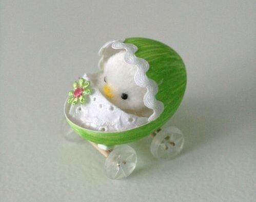 Весёлые игрушки из яиц