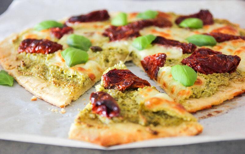 Пицца с вялеными помидорами рецепт