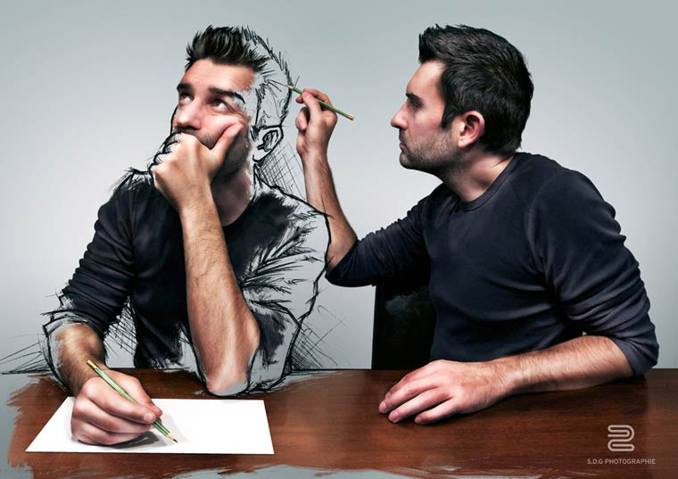 All Sketches - Un photographe s'amuse a melanger illustration et photographie