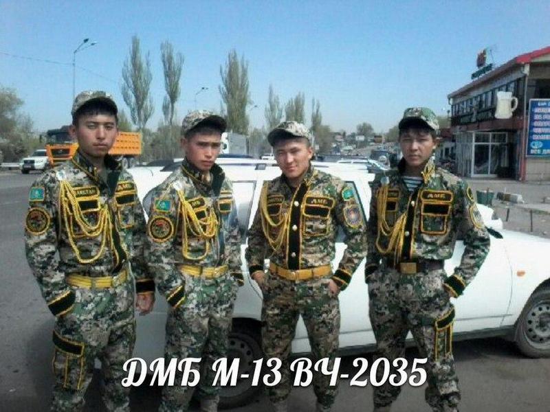 Казахские дембеля возвращается домой