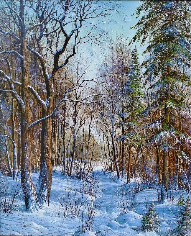 Лесной пейзаж ( зима ) ...