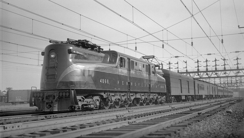 Pennsylvania electric train #107, engine number 4868, engine type PRR 2-C+C-2, at Washington, D.C., August 3, 1939.