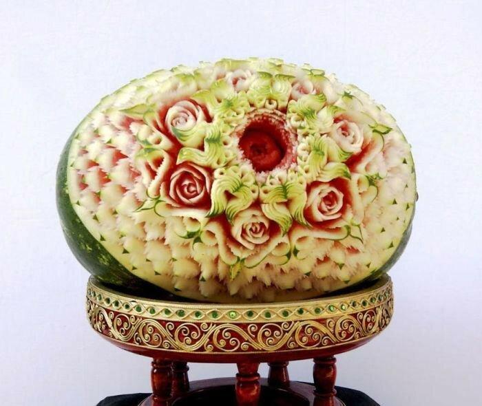 Карвинг   это художественная резьба по овощам, фруктам и ягодам