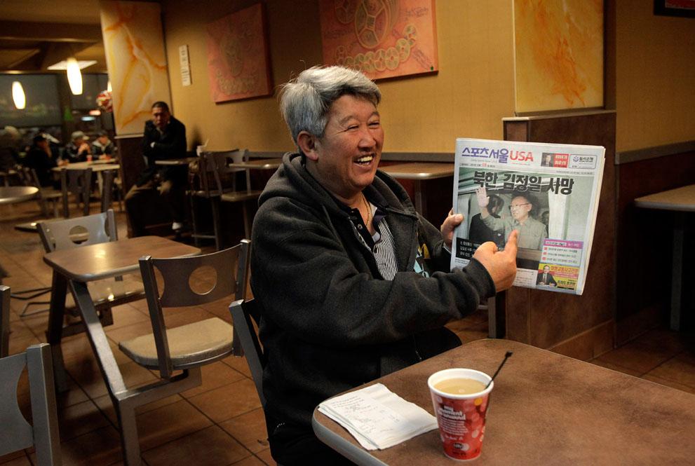 29. Корейский иммигрант из Лос-Анджелеса Стив Парк, кажется, не очень расстроен смертью лидера своей
