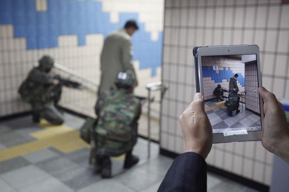 Моделирование химической атаки на станции метро, 8 мая 2013. Несмотря на сообщения, что Северна