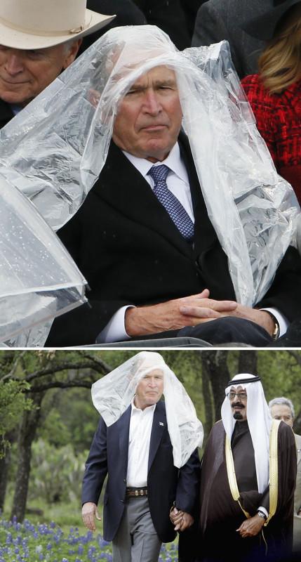 Джордж Буш на инаугурации Трампа.