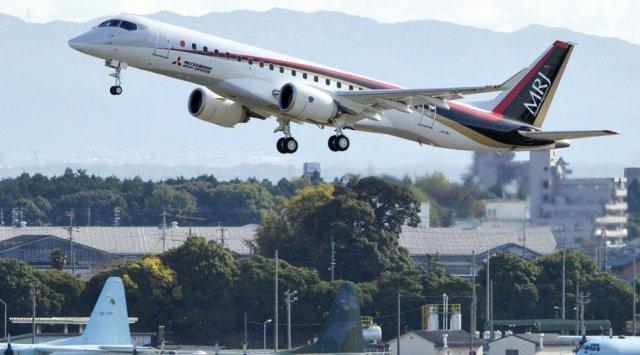 Самолёт Митсубиши изЯпонии вСША отправился виспытательный полёт через Российскую Федерацию