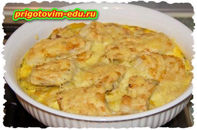 Картофель, запеченный со сливками в СВЧ печи