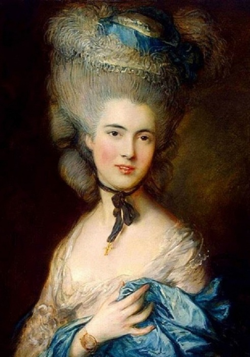 Дама в голубом. Т. Гейнсборо, ок. 1770-х.