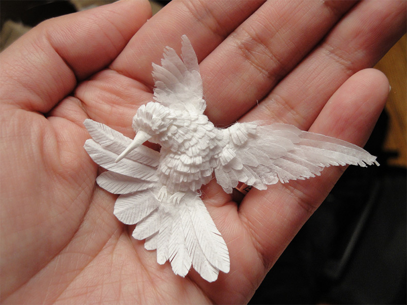 Hummingbird, 2010 Korean paper artist Cheong-ah Hwang who is currently based in Columbus, Ohio creat
