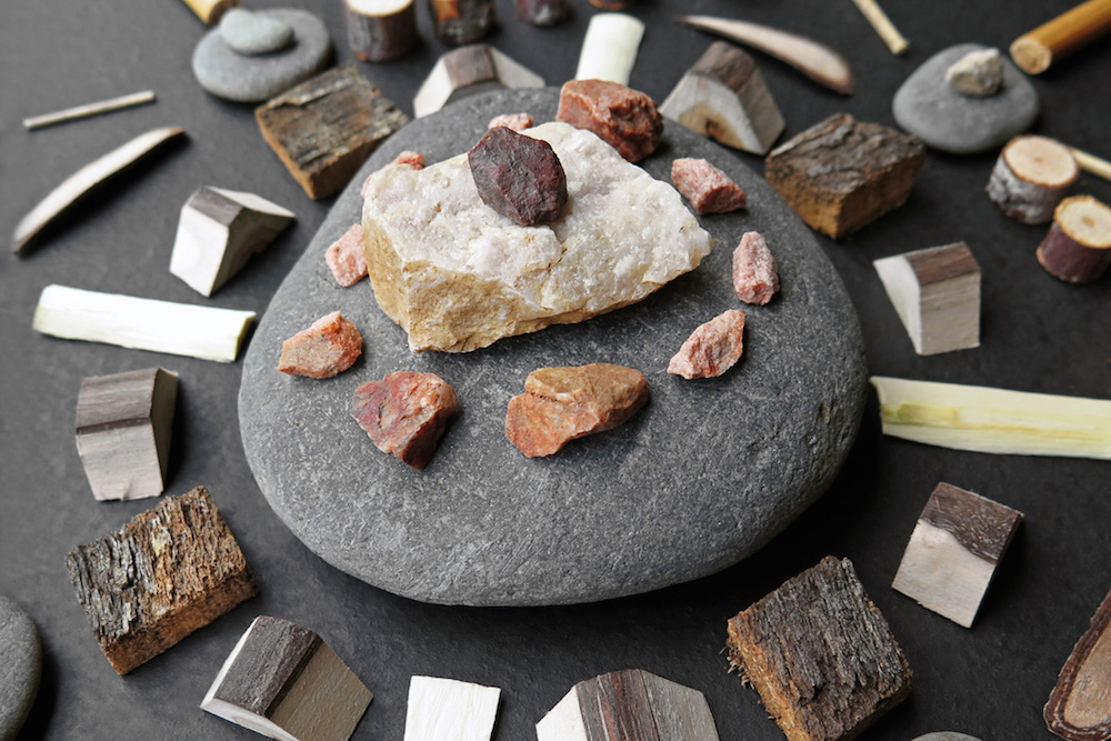 Mandalas Formed From Foraged Wood and River Stones Designed by Matt W. Moore