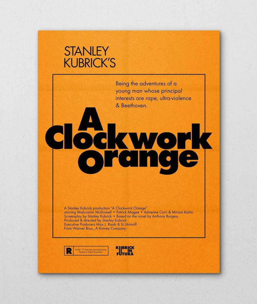 Kubrick's Movie Posters in Futura