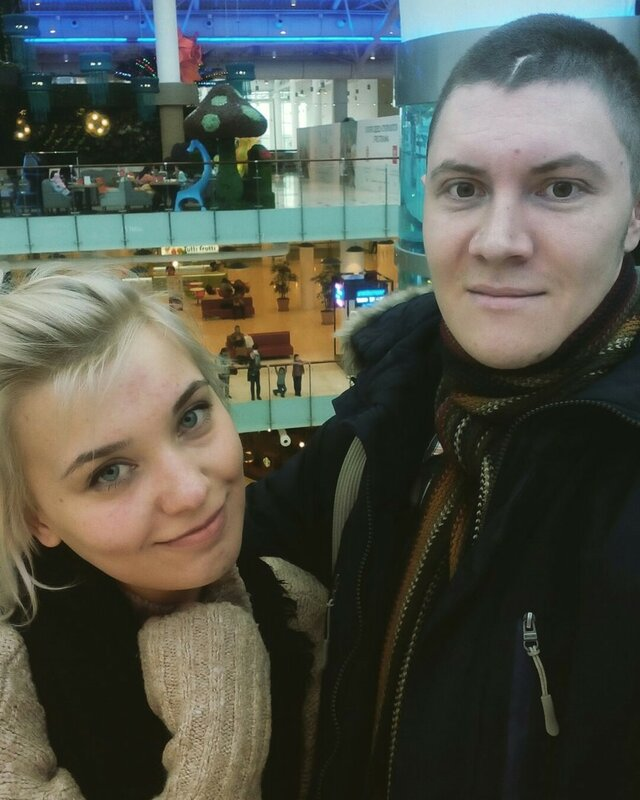 Я с Лизой Песковой