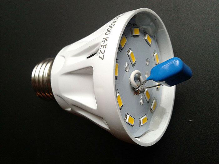 доработка светодиодной лампы