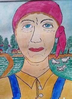 Женщина  в  красной  косынке (Труженица)
