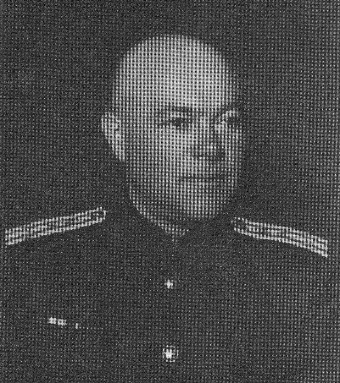 1945. Мирон Акимович Лясс - главный терапевт Главного военного госпиталя Красной армии им. Н.Н.Бурденко.