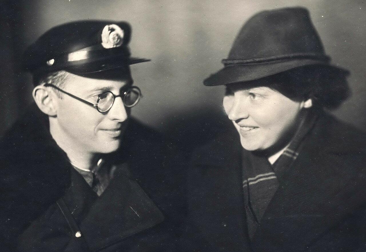 Лев Михайлович Гольдман с женой