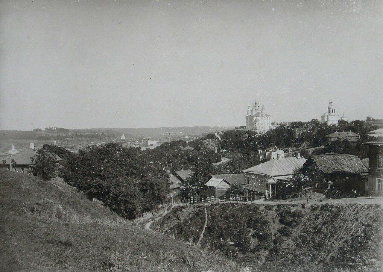 Вид с Казанской горы на Успенский собор. 1902