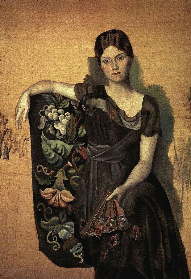 «Портрет Ольги в кресле» 1917