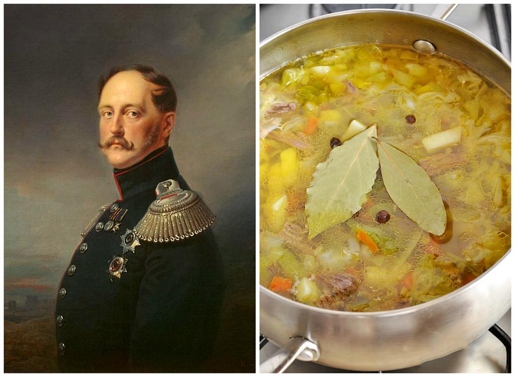 Николай I (1796-1855) и любимый им капустный суп (щи)    В отличие от старшего