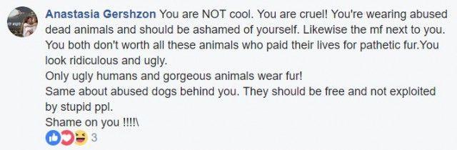 Блогер ответил на критику зоозащитницы